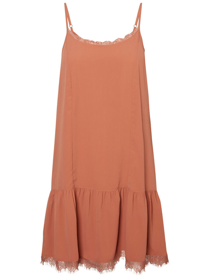 LACE SLEEVELESS DRESS, Cedar Wood, large