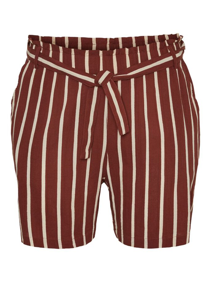 STRIPED SHORTS, Sable, large
