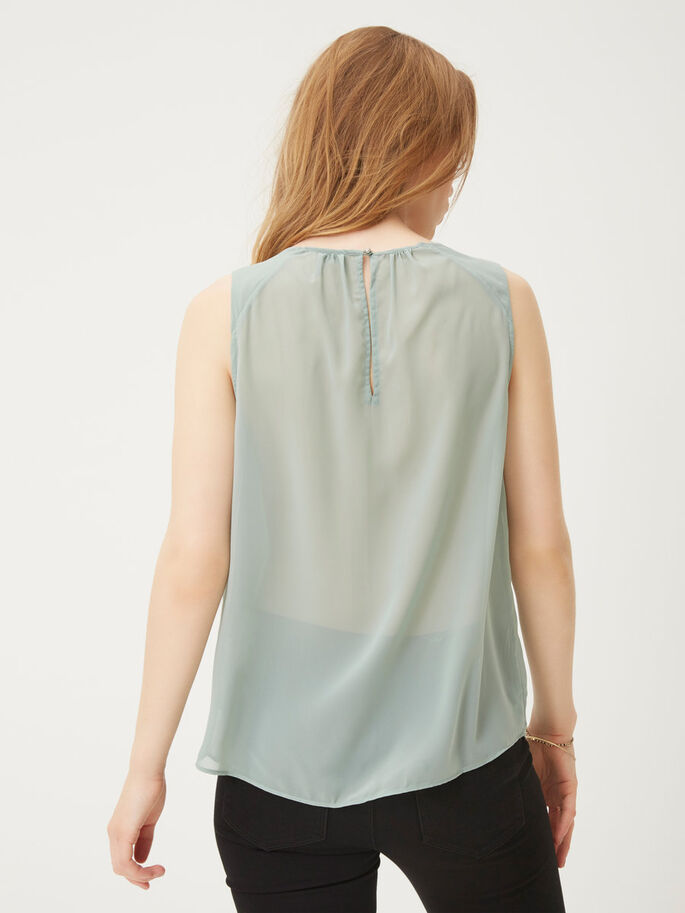 SEQUINED SLEEVELESS TOP, Chinois Green, large