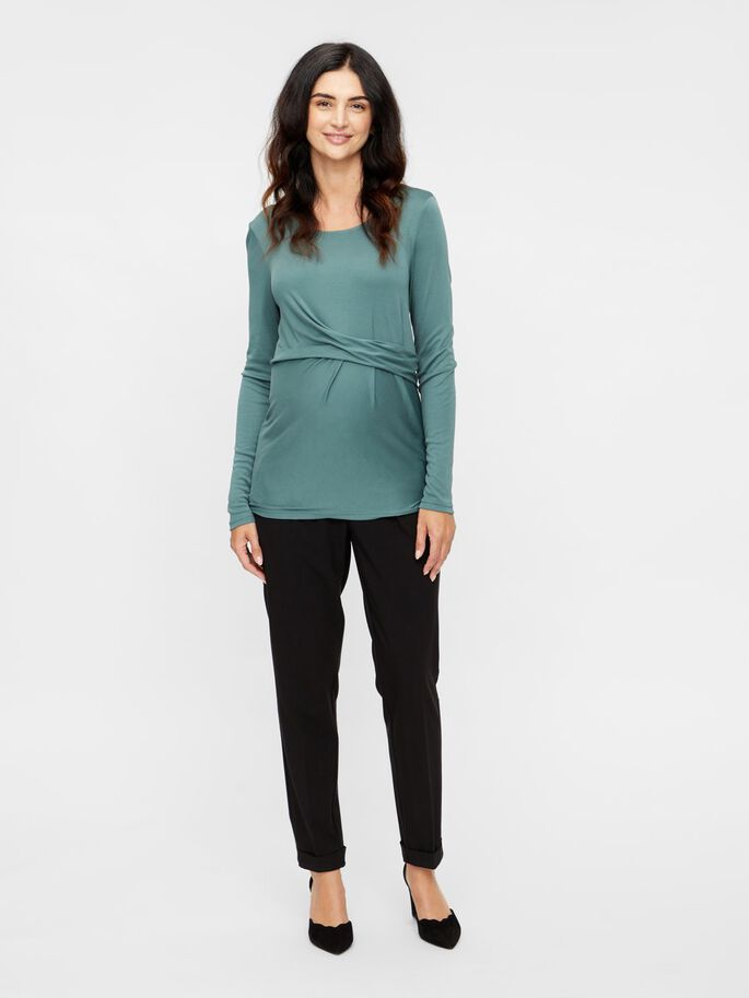 PLEAT DETAILED MATERNITY TOP, North Atlantic, large
