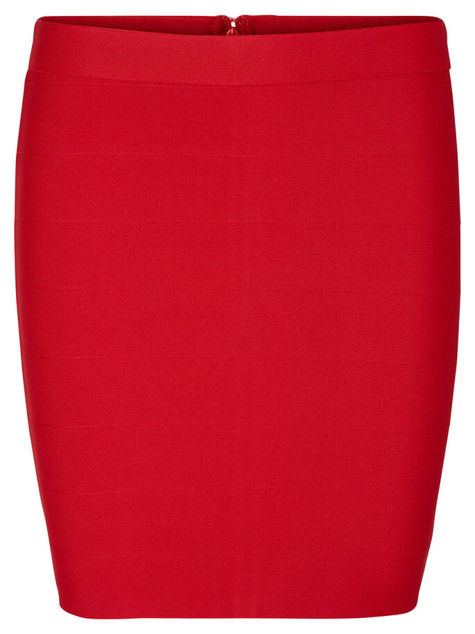 NW SHORT SKIRT, Lipstick Red, large