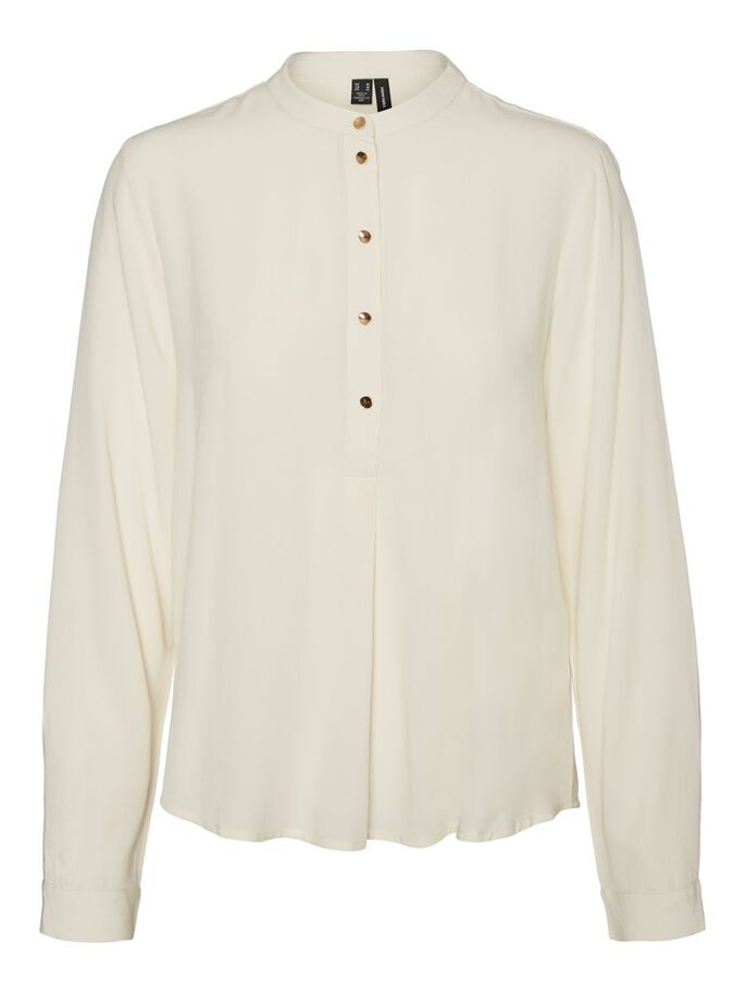 BUTTON BLOUSE, Birch, large