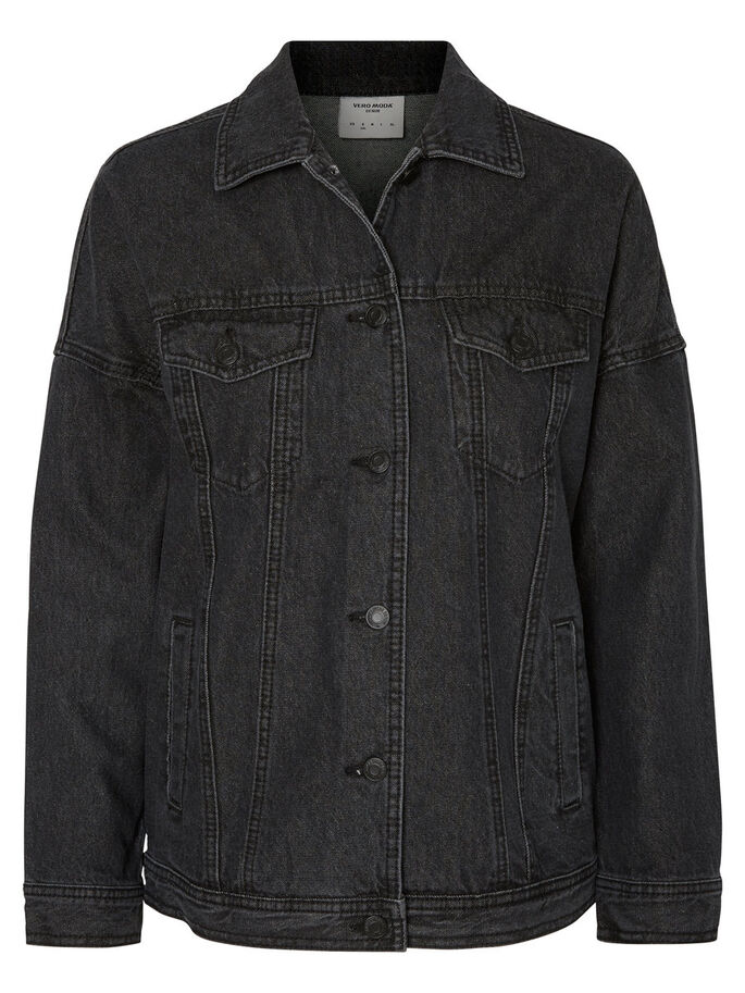 DENIM JACKET, Dark Grey Denim, large