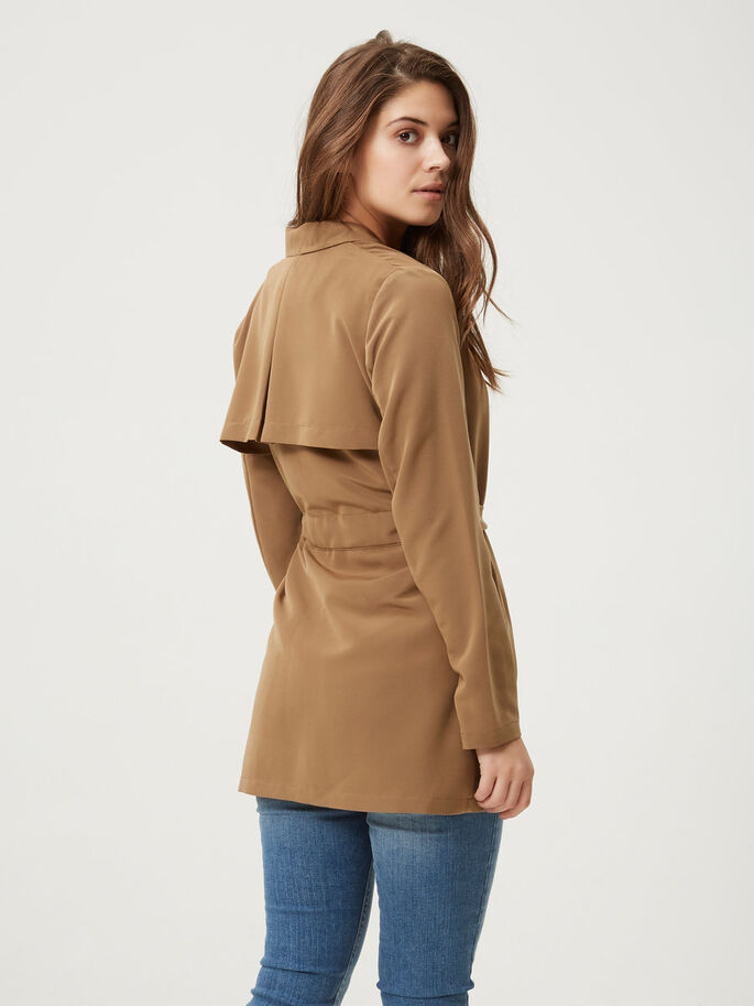 SHORT TRENCHCOAT, Otter, large