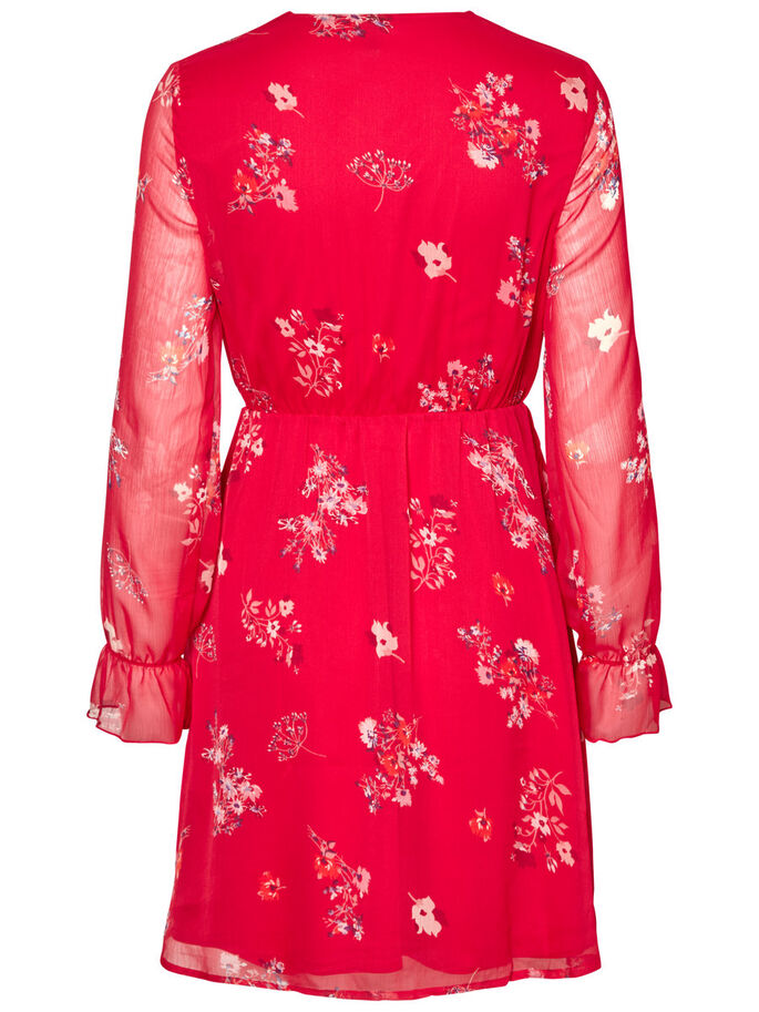 FLOWER LONG SLEEVED DRESS, Lychee, large