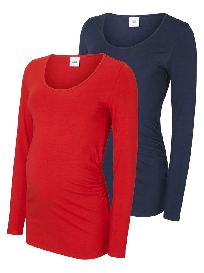 2-PACK MATERNITY TOP, LONG SLEEVED, Navy Blazer, large