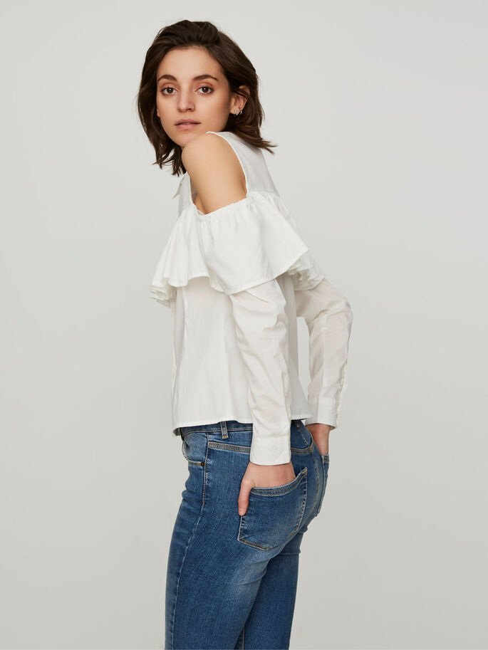 COLD-SHOULDER OVERHEMD MET LANGE MOUWEN, Snow White, large
