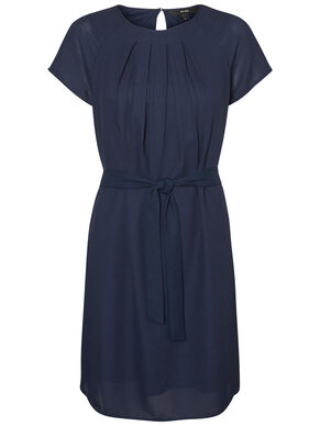 FEMININE SHORT SLEEVED DRESS