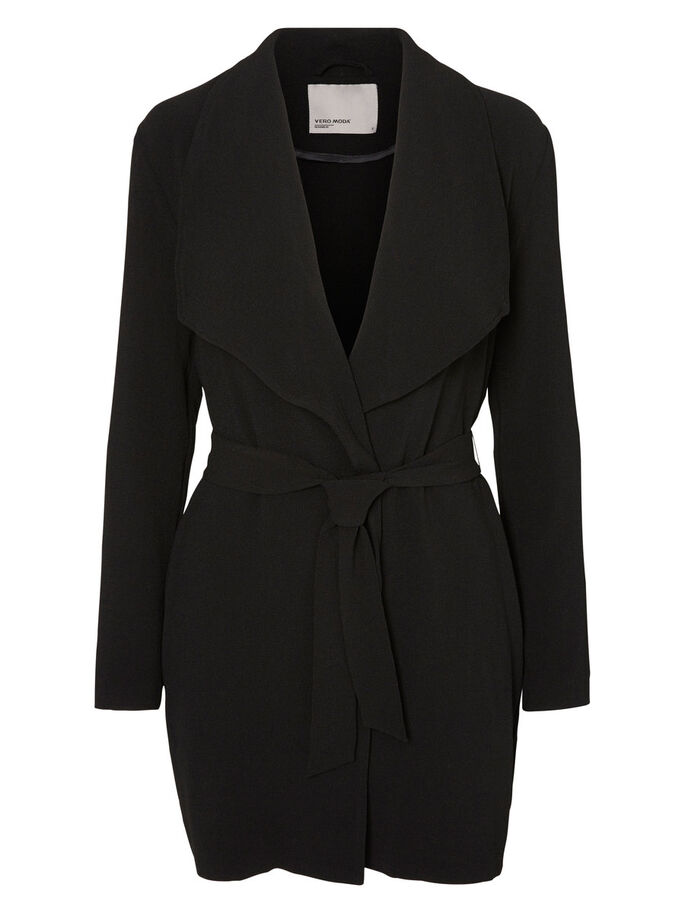 3/4 JACKET, Black, large