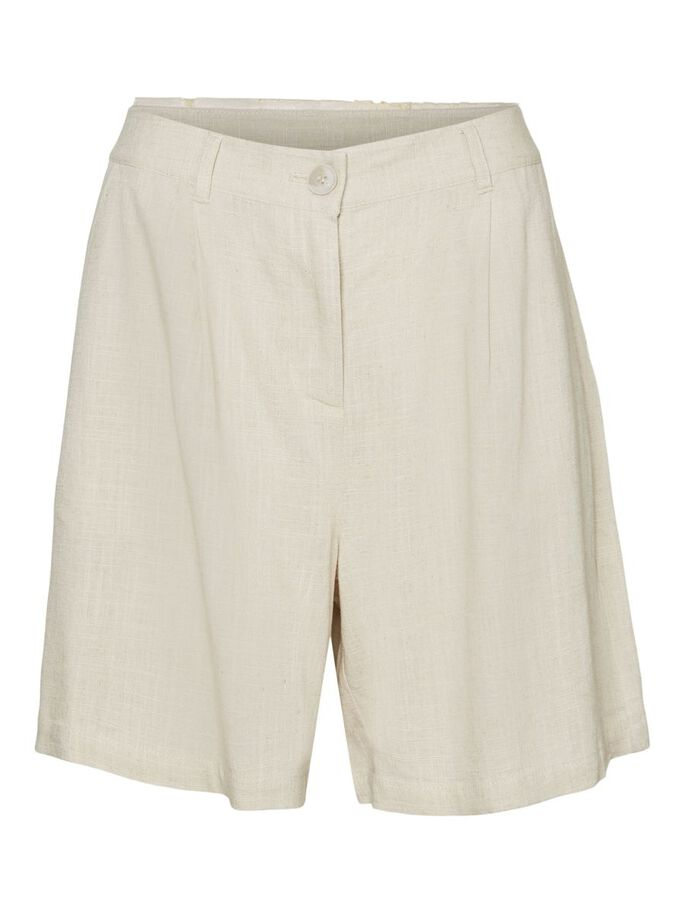 LOOSE FIT SHORTS, Oatmeal, large