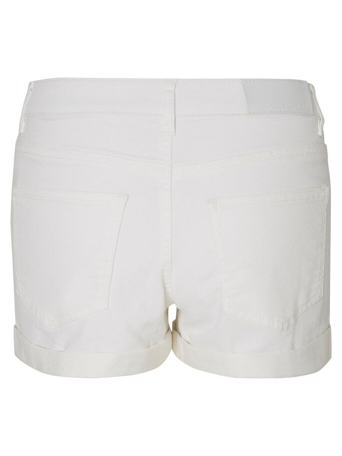 JEANS- SHORTS, Bright White, large