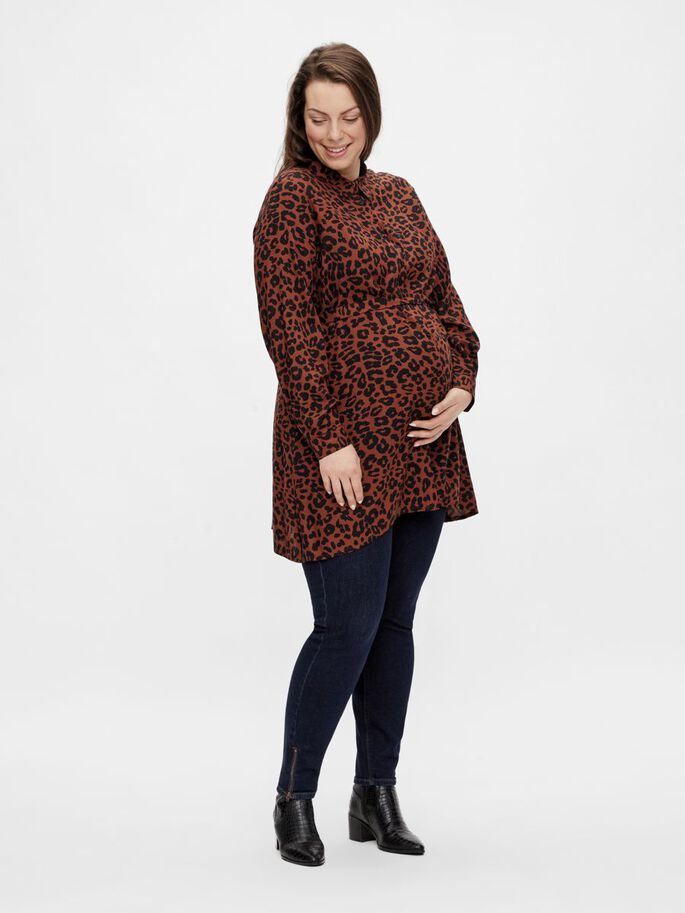 MLASMILA CURVE 2-IN-1 MATERNITY TUNIC, Monks Robe, large