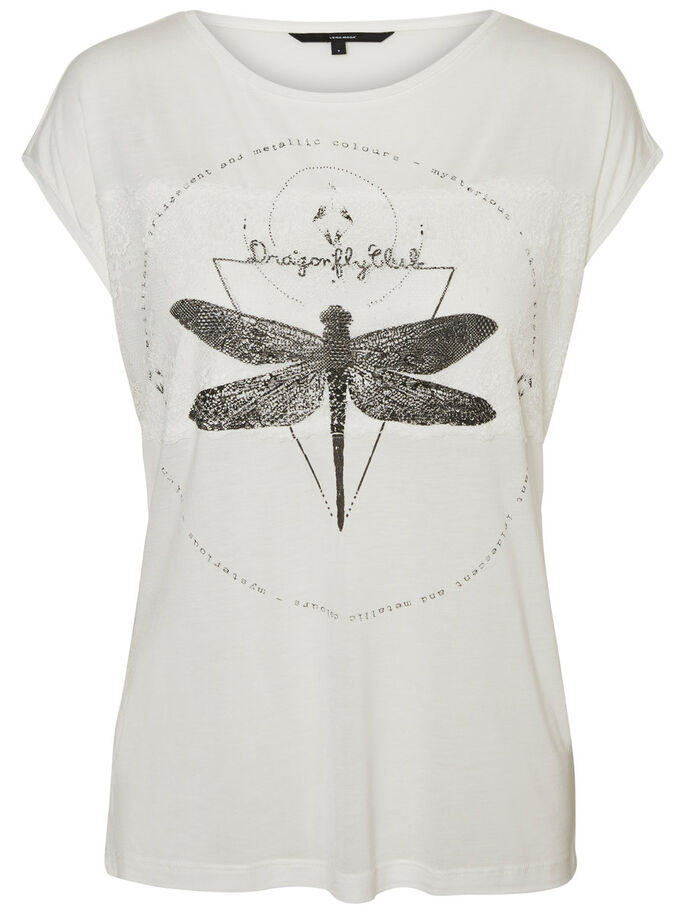DRAGONFLY T-SHIRT, Snow White, large