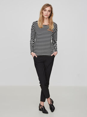STRIPED LONG SLEEVED TOP