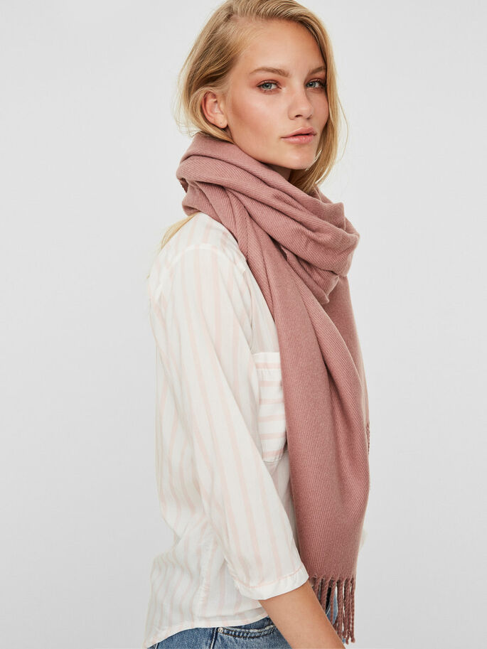 KNITTED SCARF, Nostalgia Rose, large