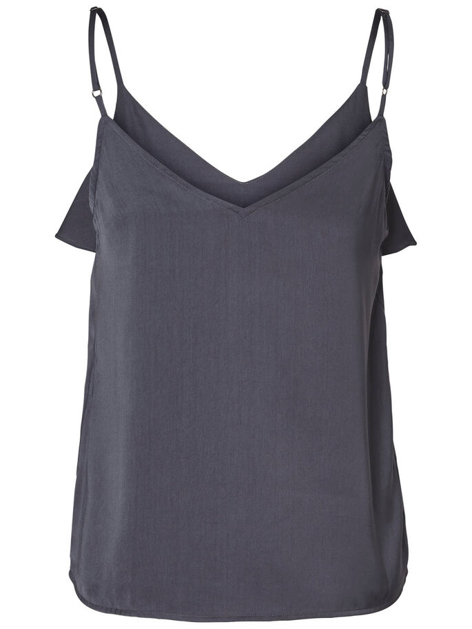 FRILL SINGLET, Ombre Blue, large