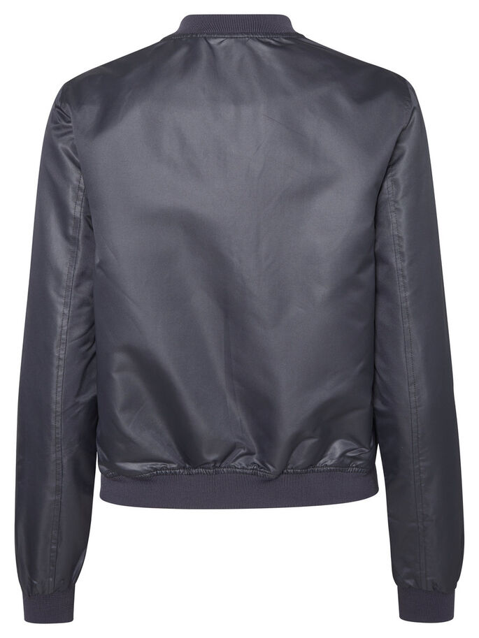 SHINY BOMBER JACKET, Ombre Blue, large