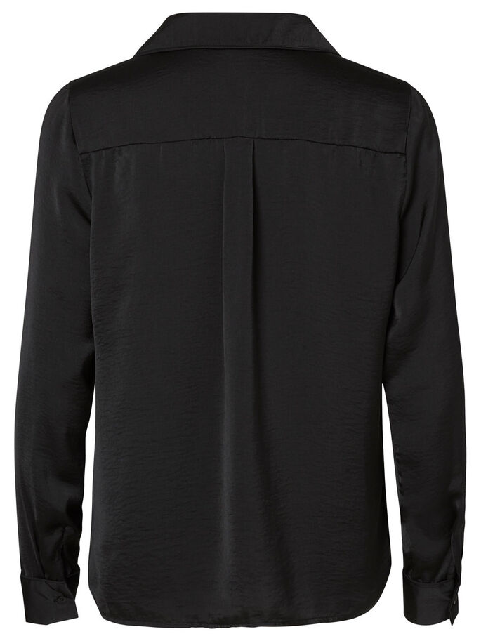 CASUAL LONG SLEEVED SHIRT, Black, large