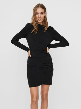 PUFF SLEEVED MINI DRESS