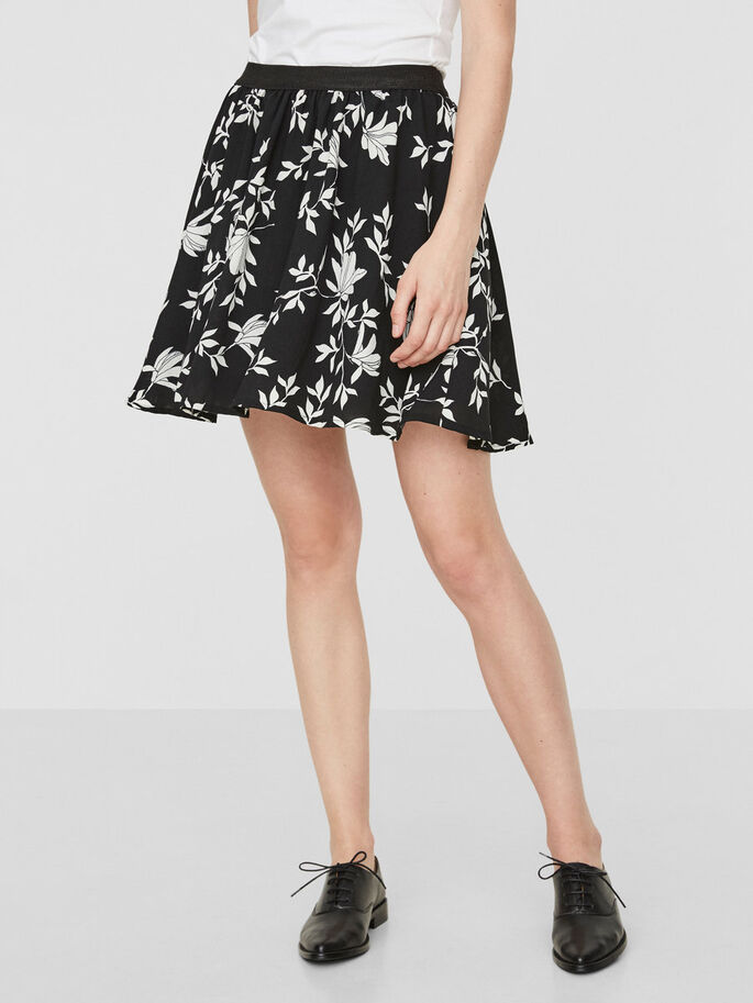 HW FLOWER SKIRT, Black Beauty, large