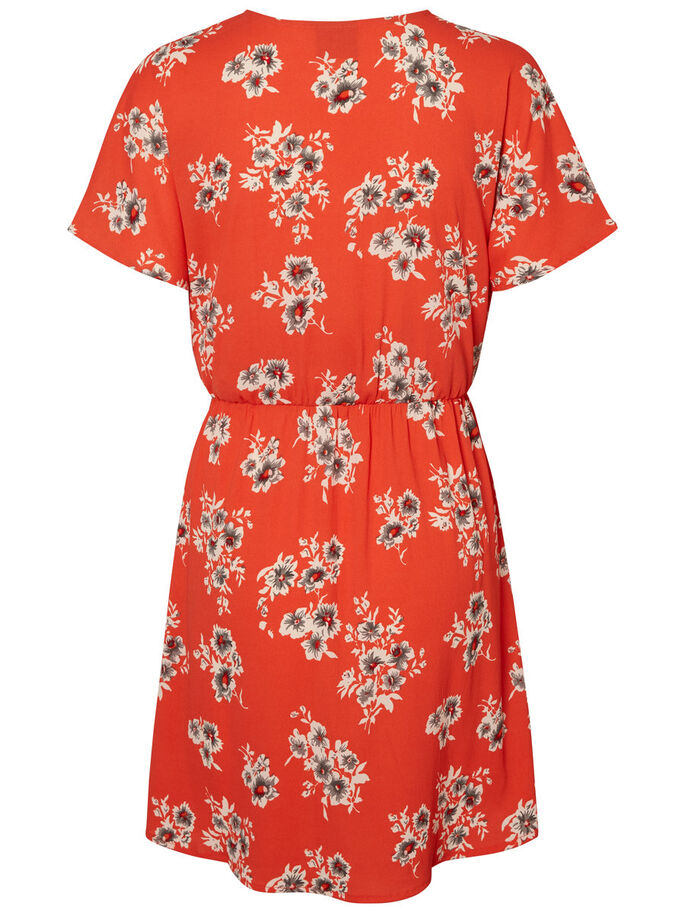 FEMININE SHORT SLEEVED DRESS, Grenadine, large