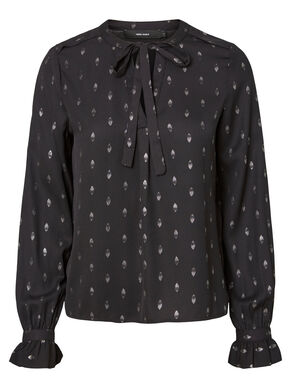 DOTTED LONG SLEEVED BLOUSE
