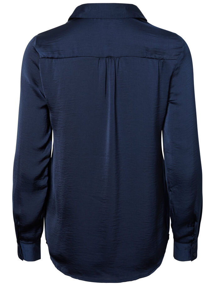 LONG SLEEVED SHIRT, Navy Blazer, large