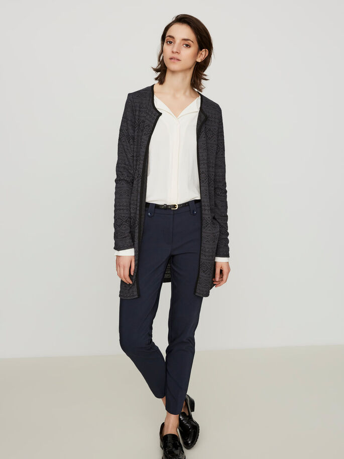 LONG CARDIGAN, Asphalt, large