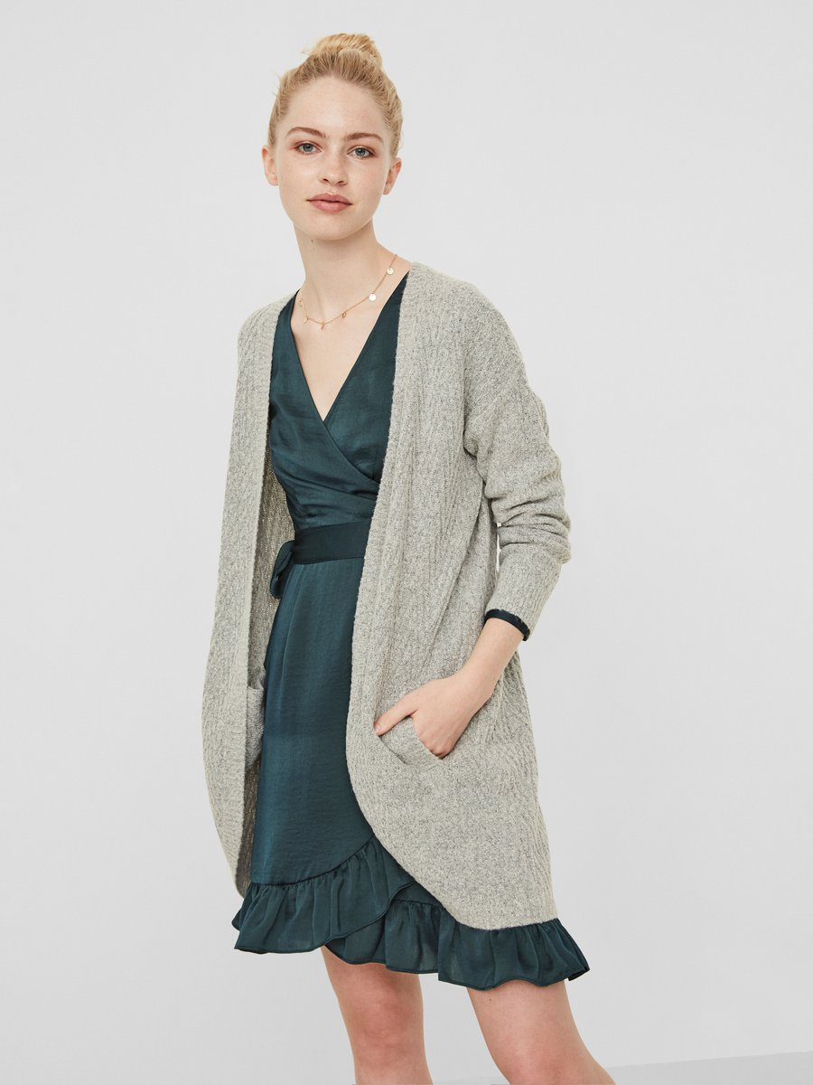Long sleeved knitted cardigan | VERO MODA