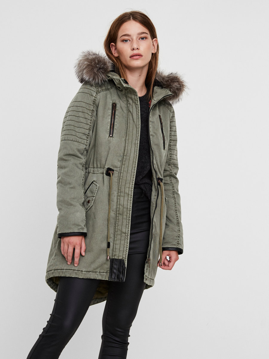 padded winter parka coat vero moda. Black Bedroom Furniture Sets. Home Design Ideas
